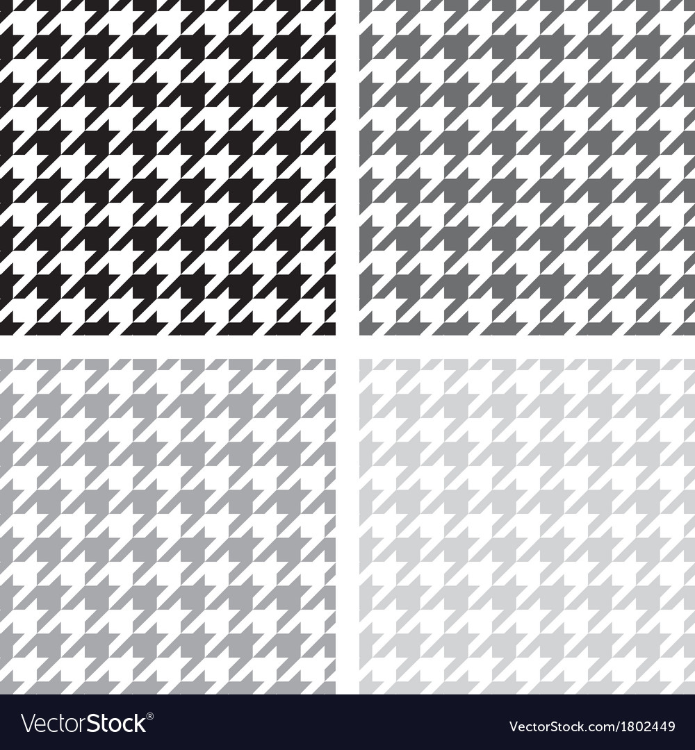 Houndstooth seamless grey black and white pattern