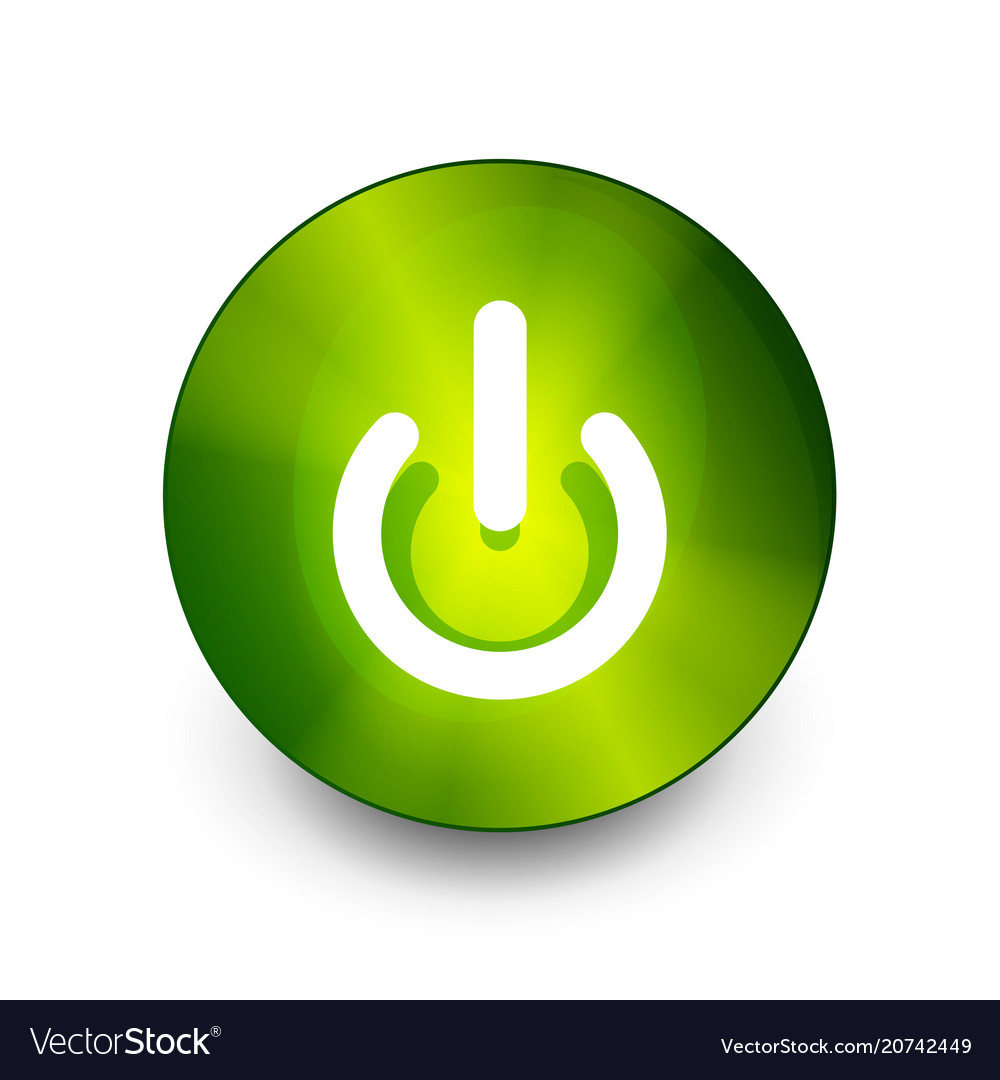 Power Button Icon Start Symbol Royalty Free Vector Image