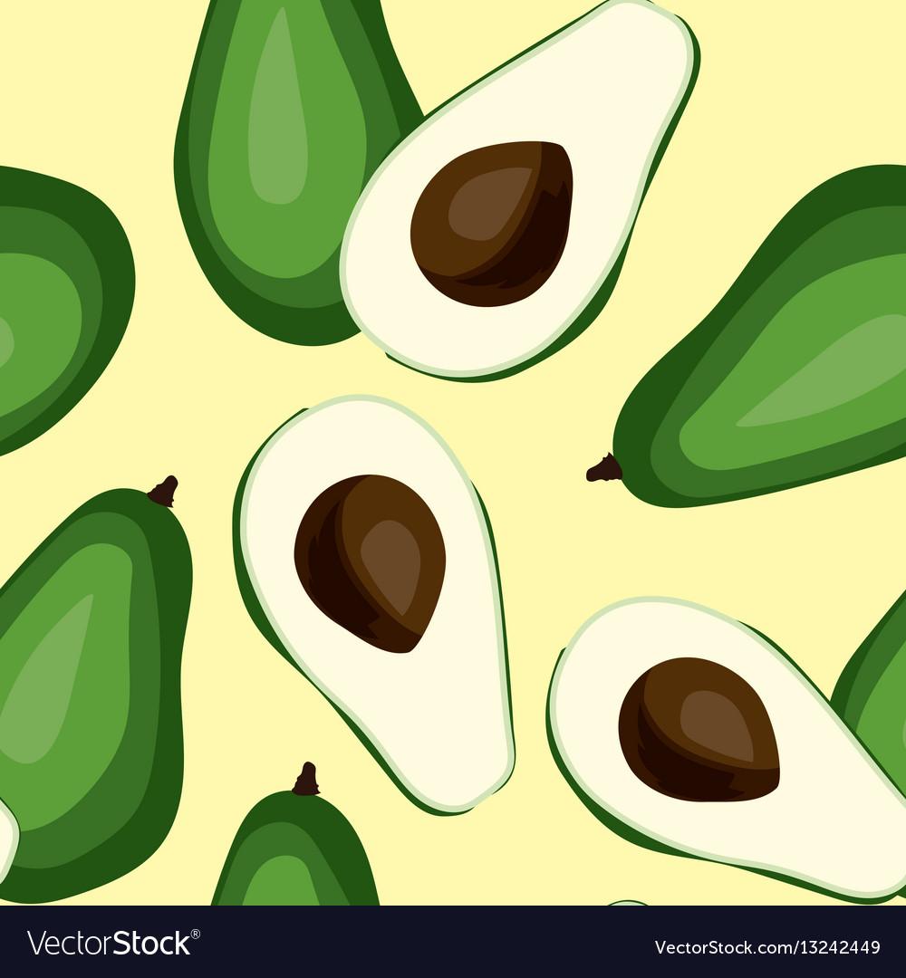 Seamless avocado pattern tile green vegetable