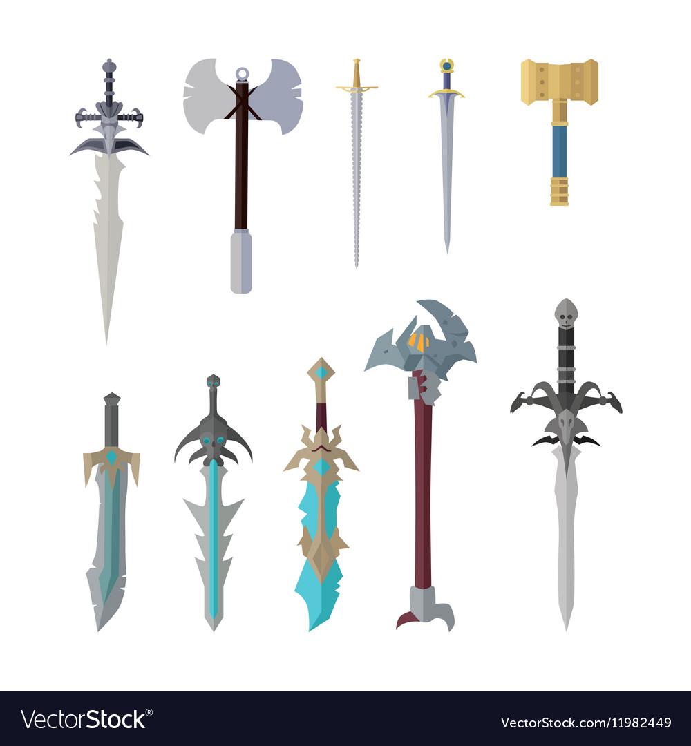Set of Fantastic Game Weapon Models