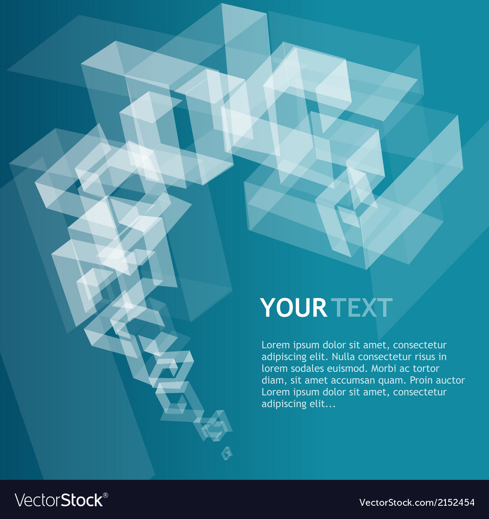 Abstract geometric template for text