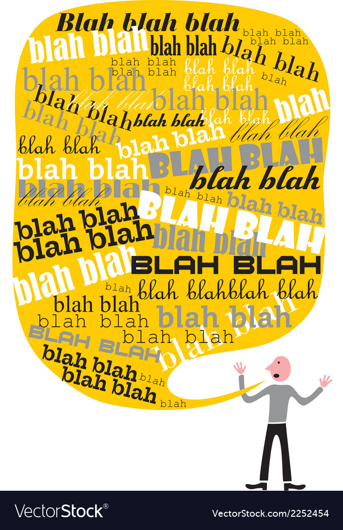 Blah blah Talk vector image