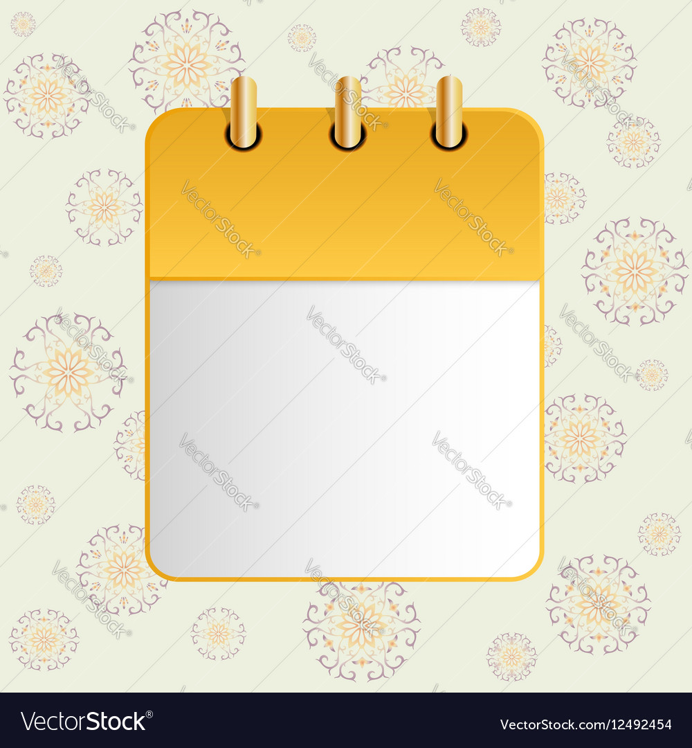 Blank sheet of calendar on the background of the