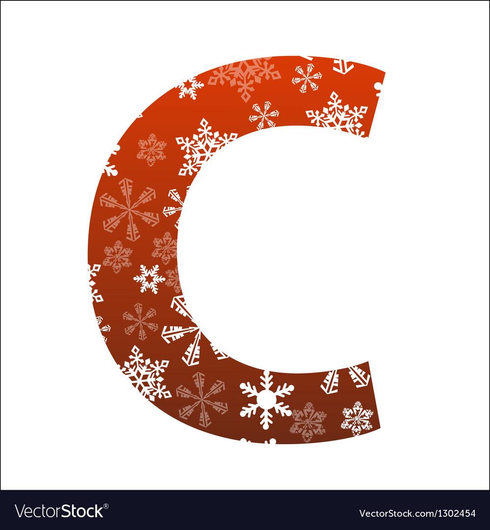 C Letter vector image
