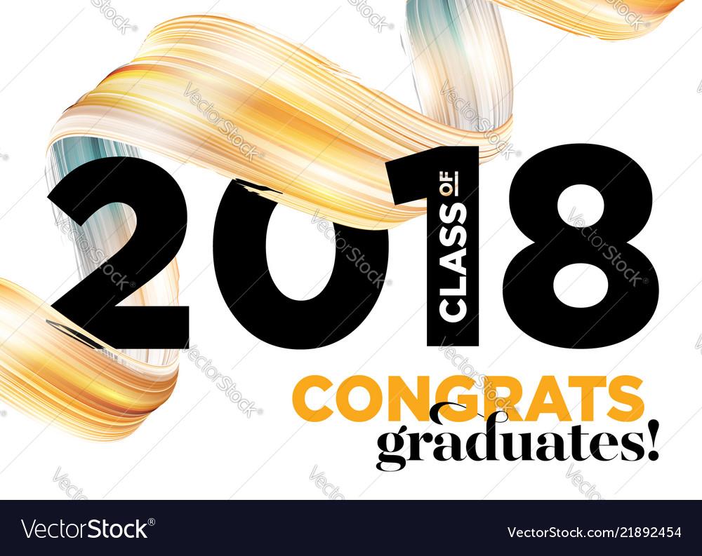 Congratulations graduates class of 2018 logo