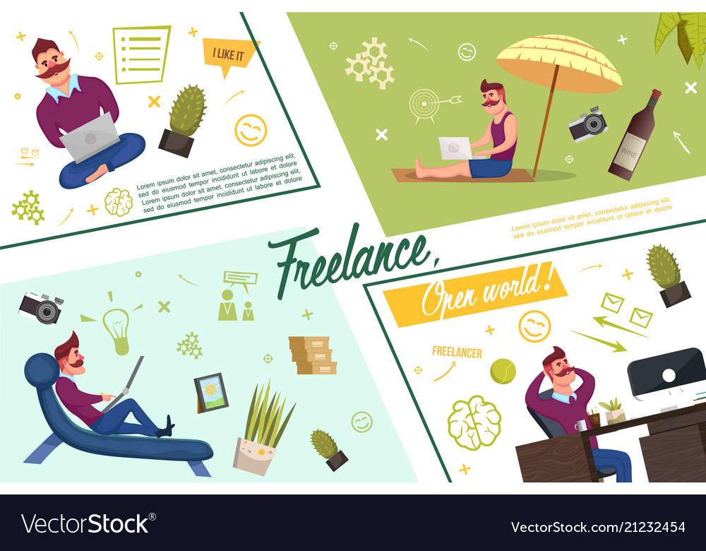 Flat freelance template