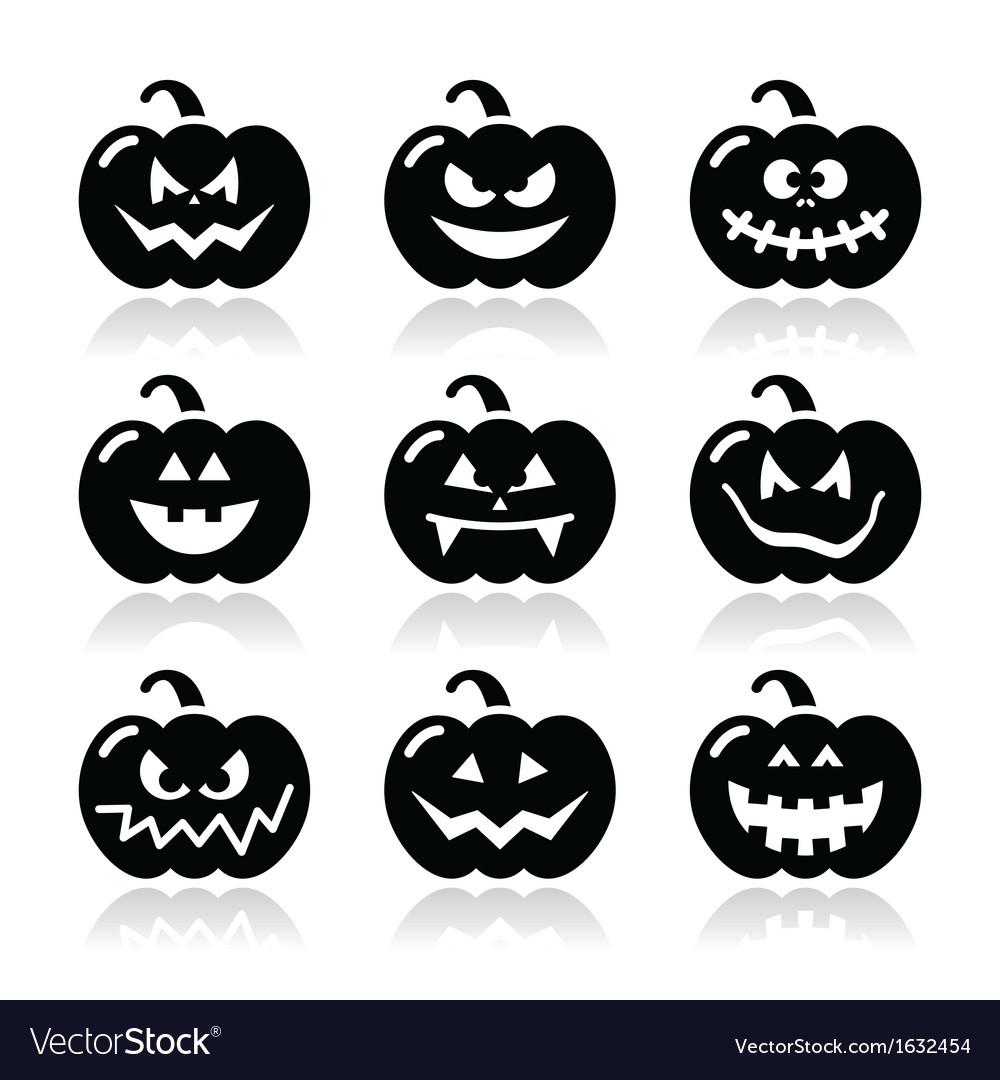 Halloween pumkin icons set