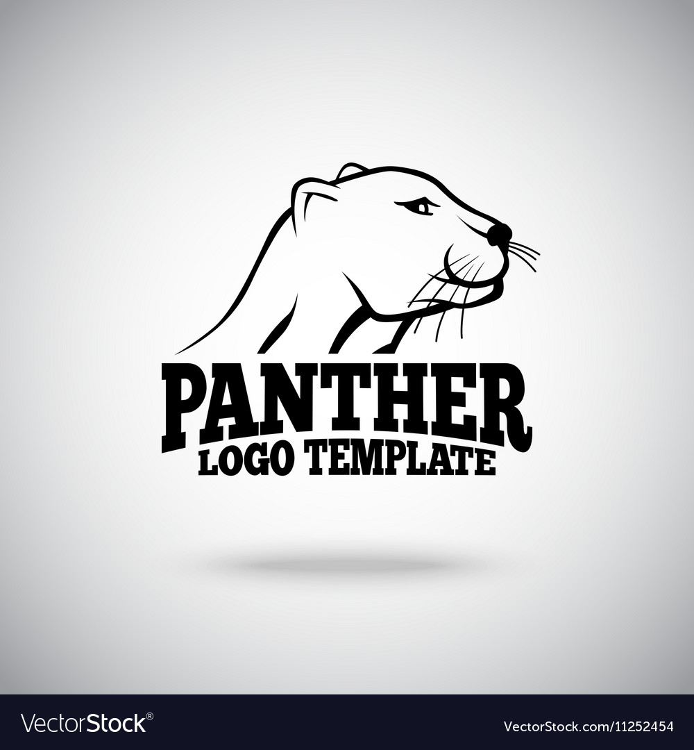 Logo template with Panther for sport teams