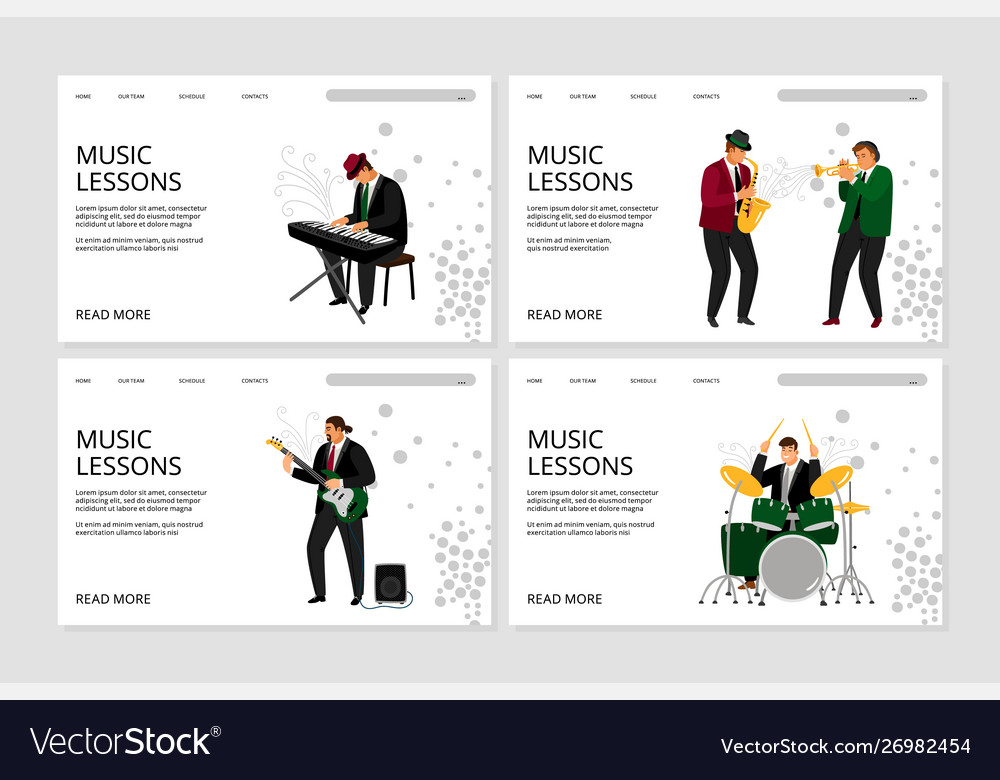 Music lesson landing page