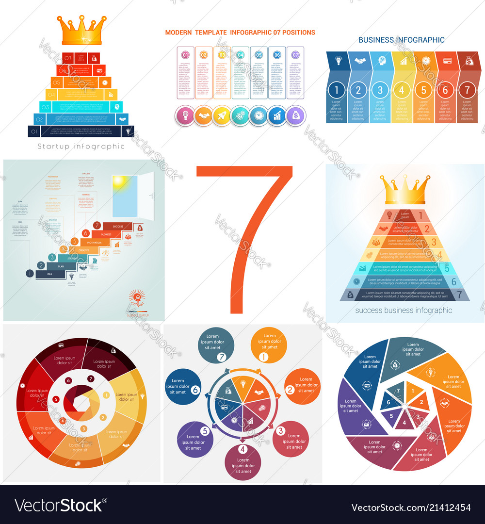 Set universal templates elements infographics