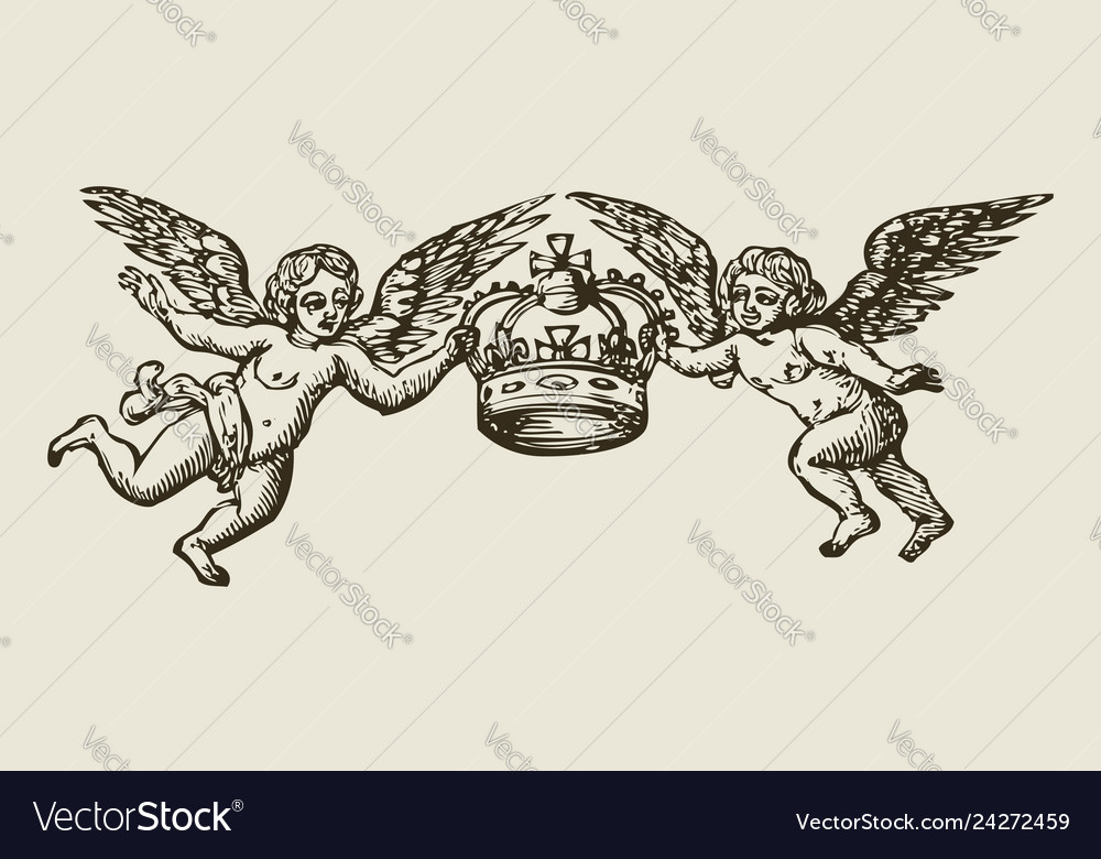 Angels with crown
