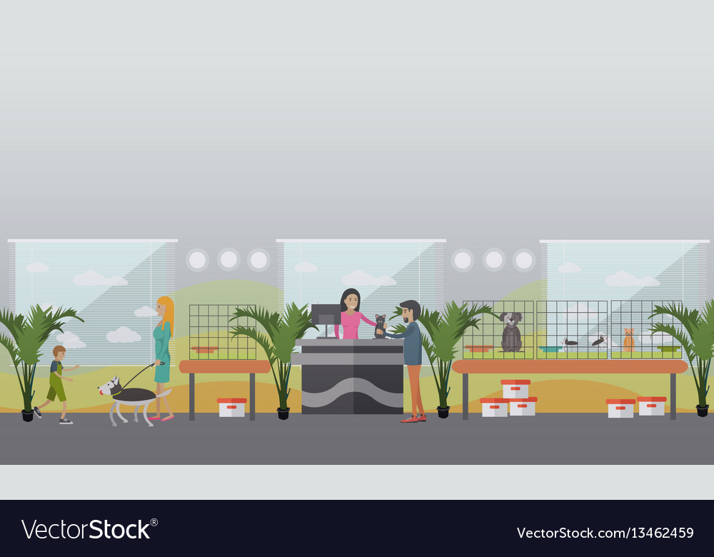 Animal shelter concept in flat