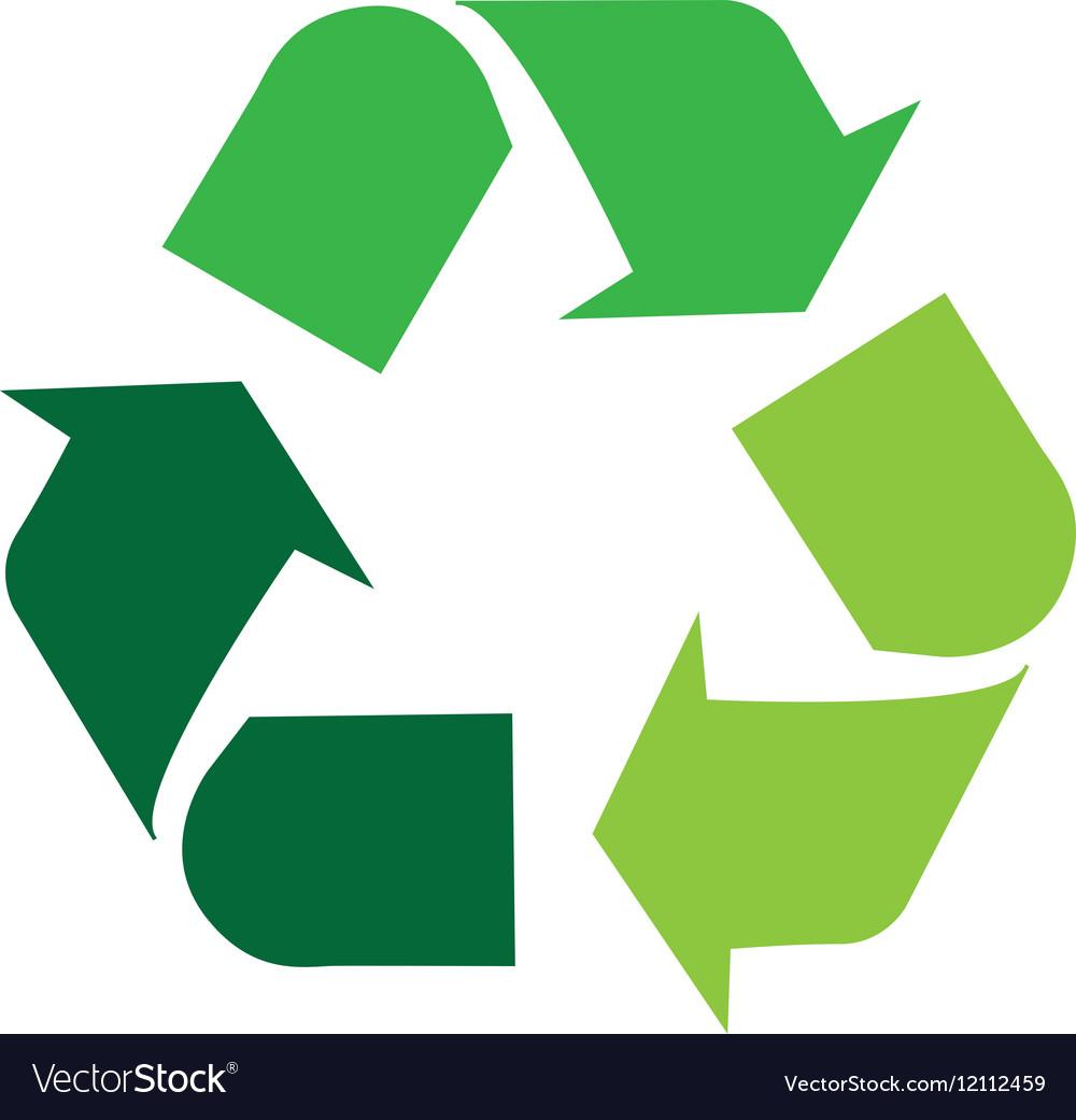 arrows recycle symbol isolated icon royalty free vector rh vectorstock com recycling icon vector recycling icon vector free download