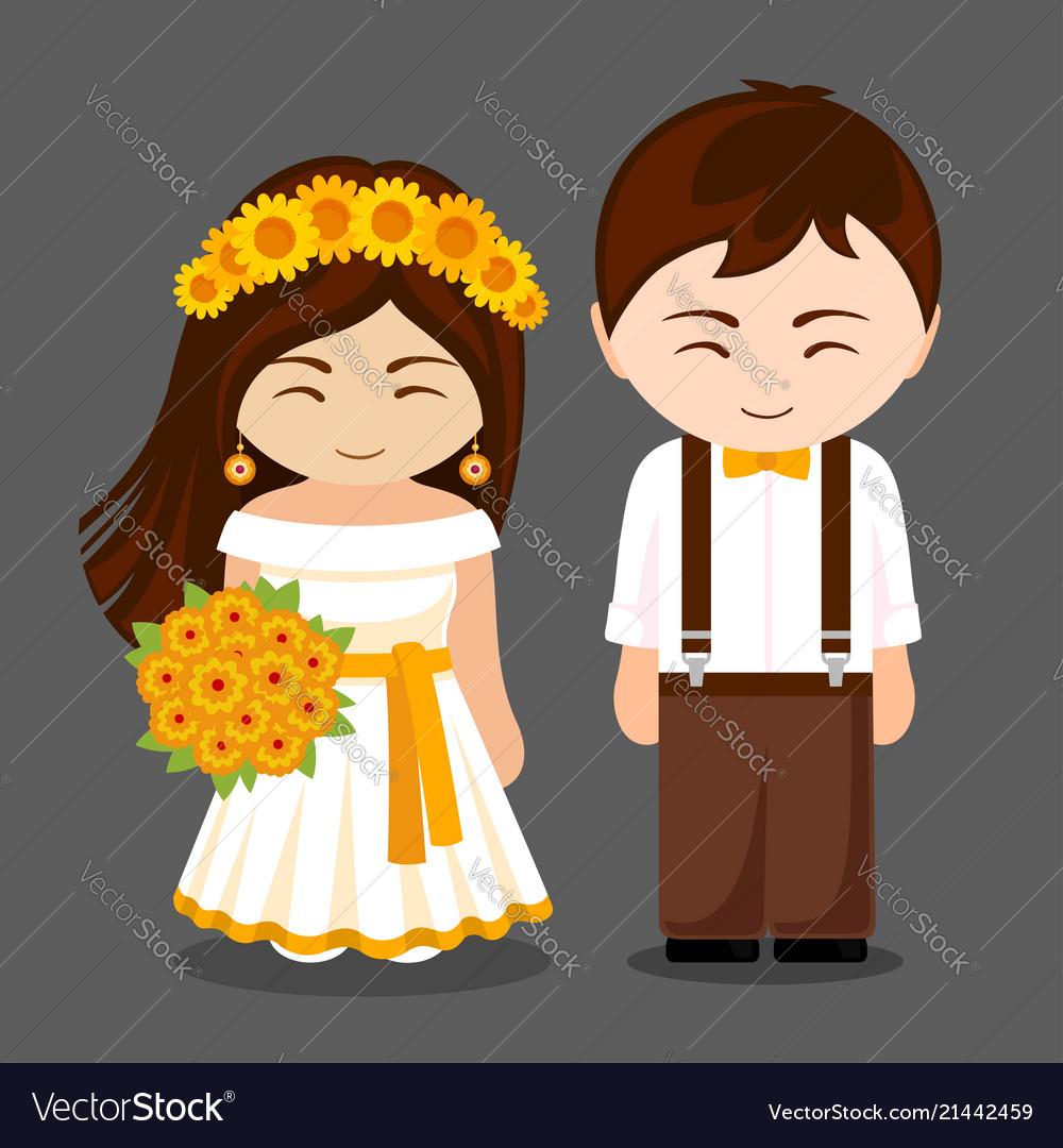 Beautiful newlywed couple
