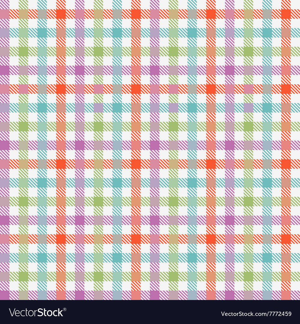 Colorful checkered tablecloths pattern