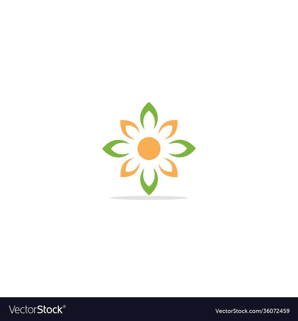Flower ornament logo
