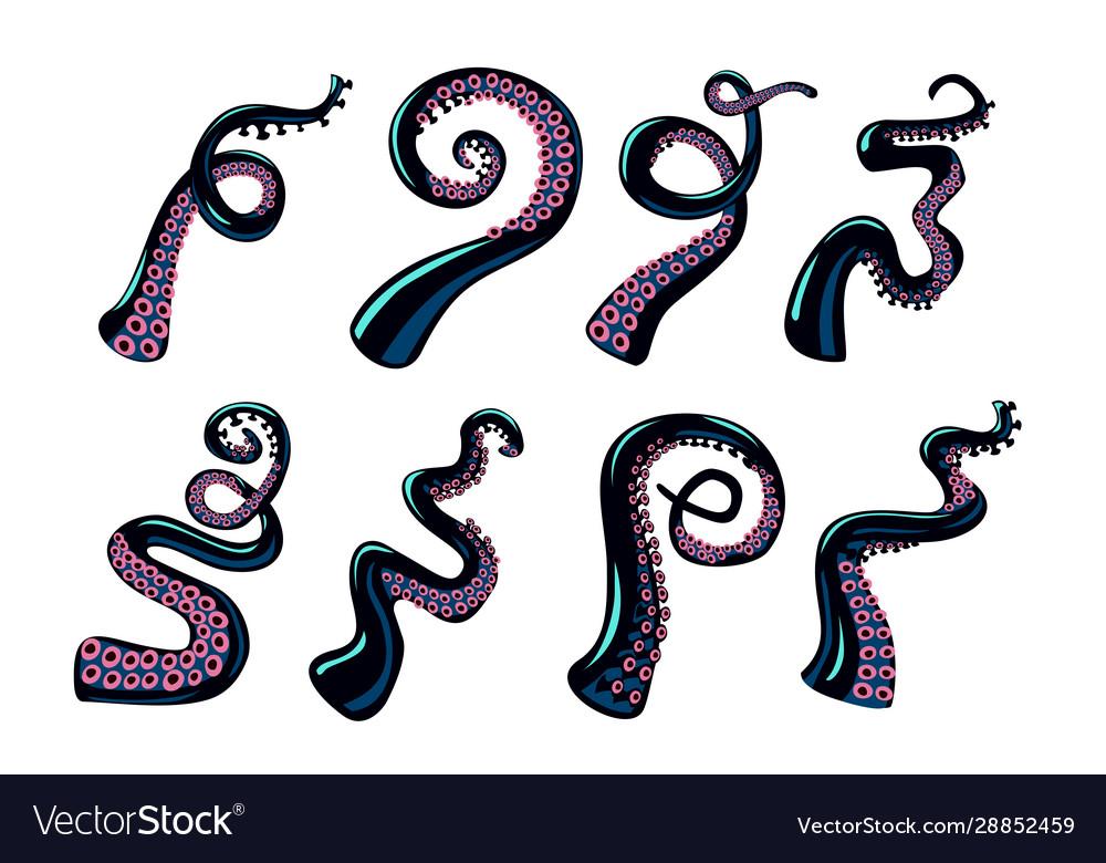 Octopus tentacles set design elements