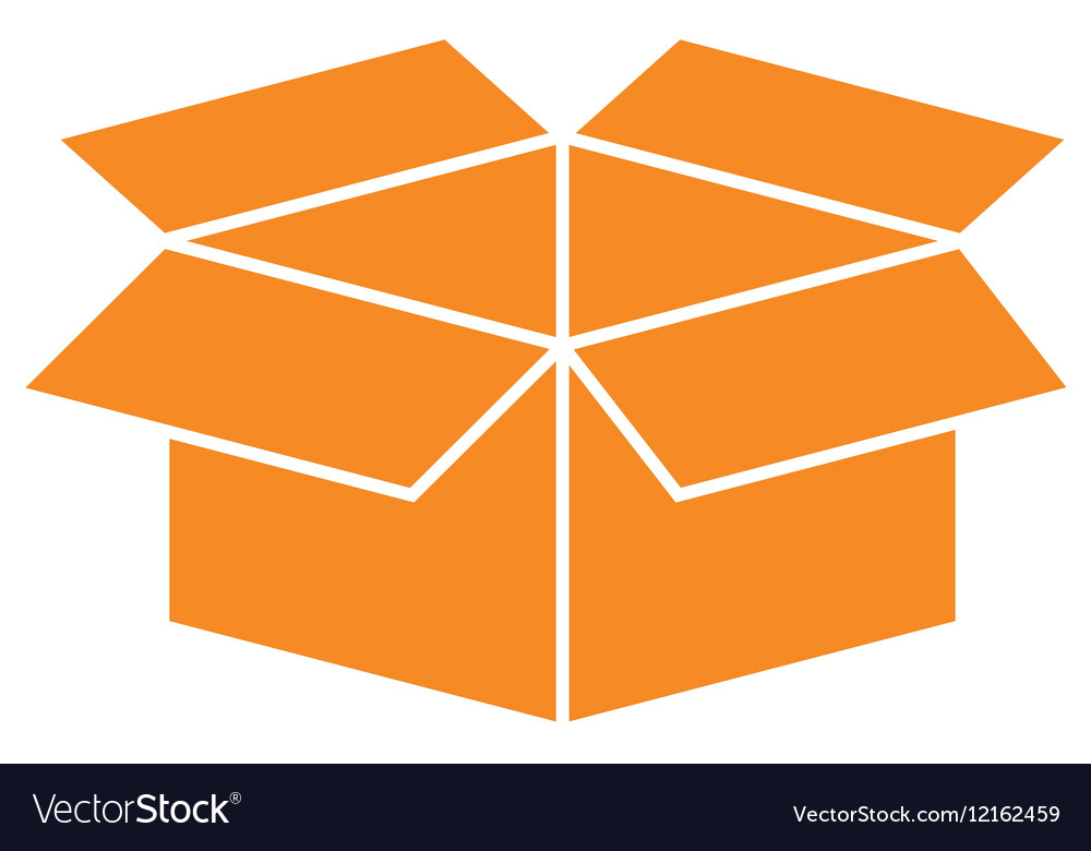 Open Box Symbol Royalty Free Vector Image Vectorstock