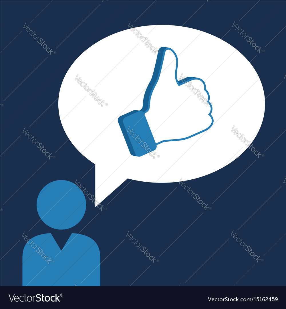 Person make like social sites concept vector image