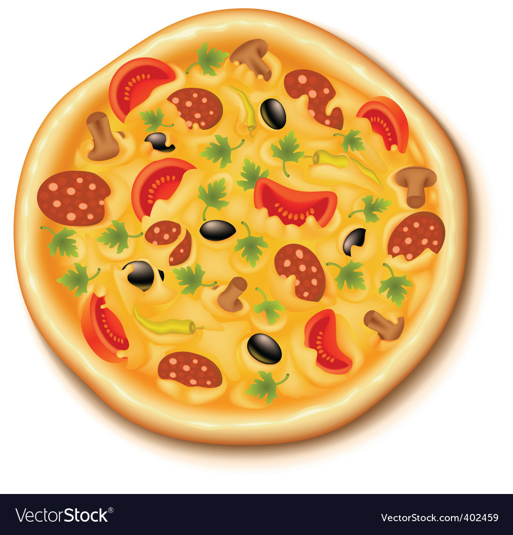 pizza royalty free vector image vectorstock rh vectorstock com pizza vector free download pizza vector psd