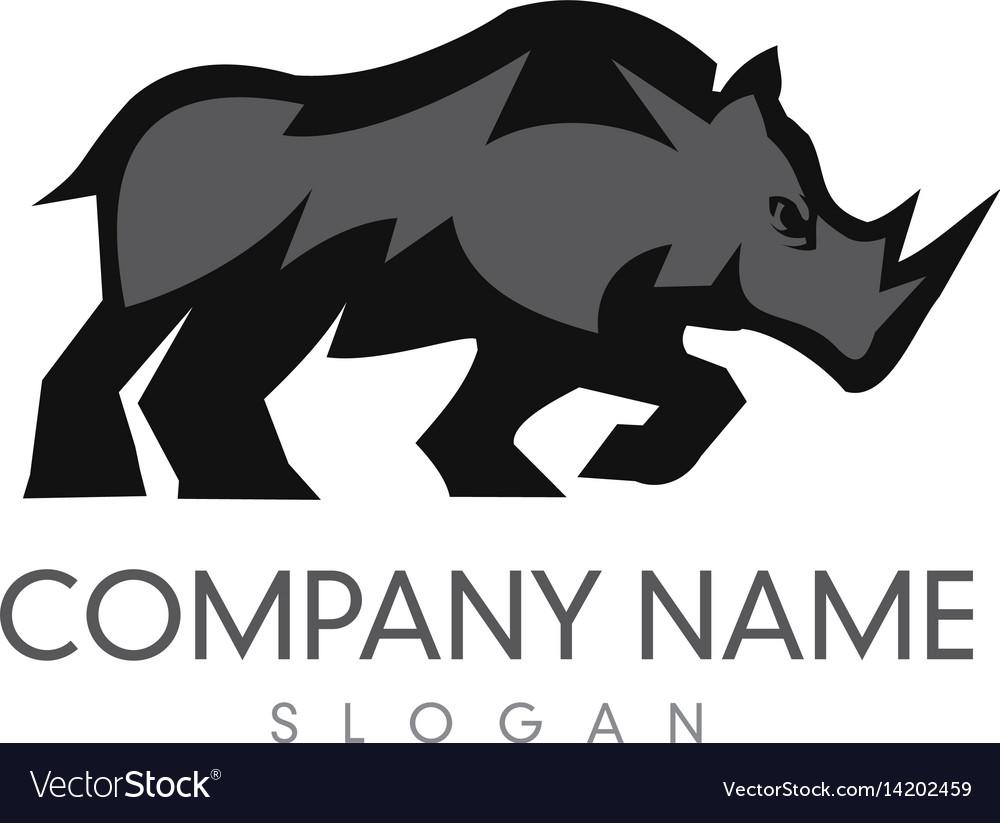 Rhino logo 3 vector image