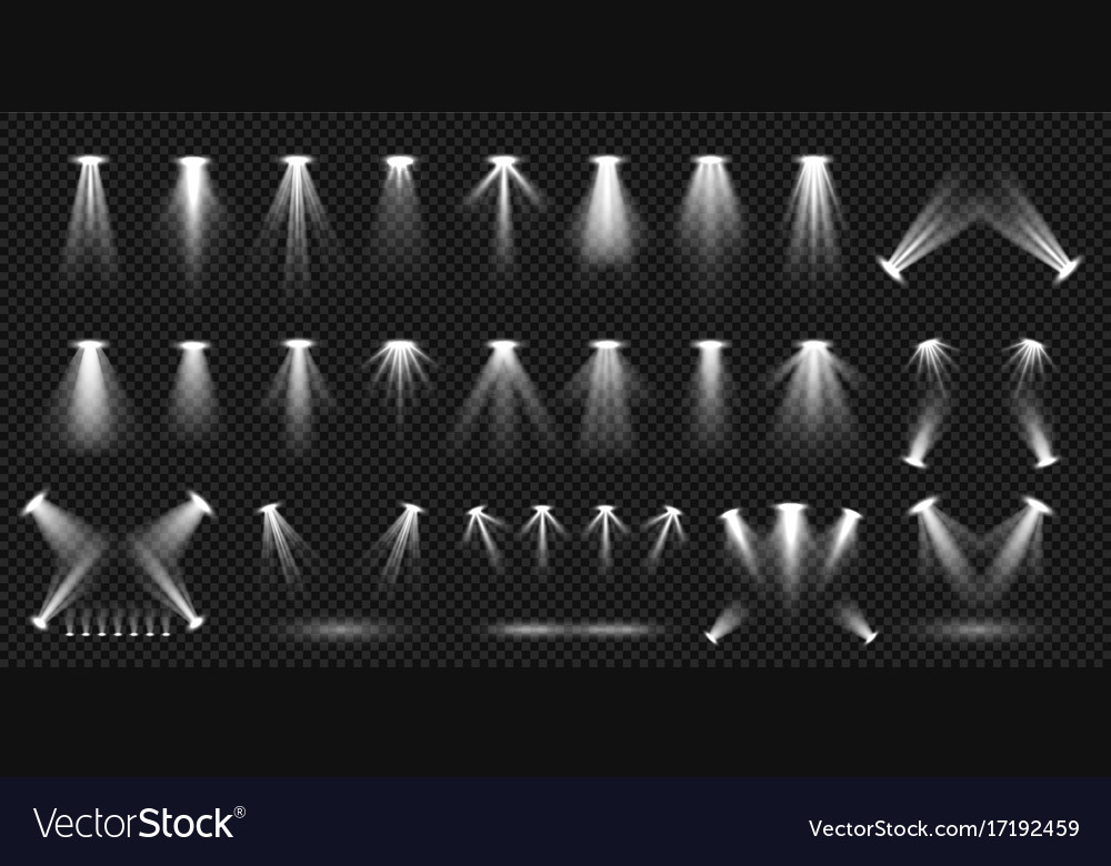 Spot lighting isolated on transparent background vector image