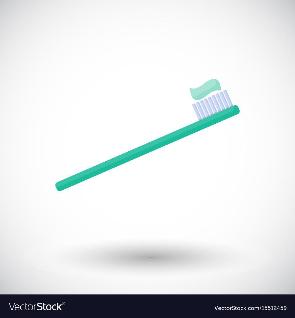 Toothbrush flat icon