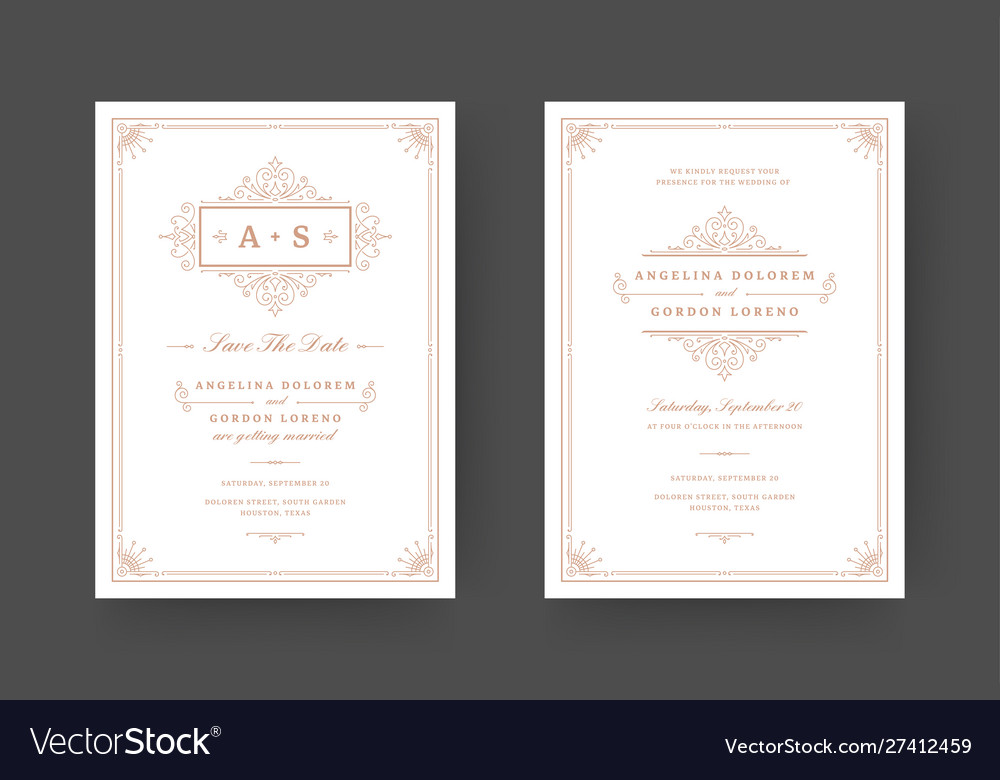 Wedding invitation and save date cards