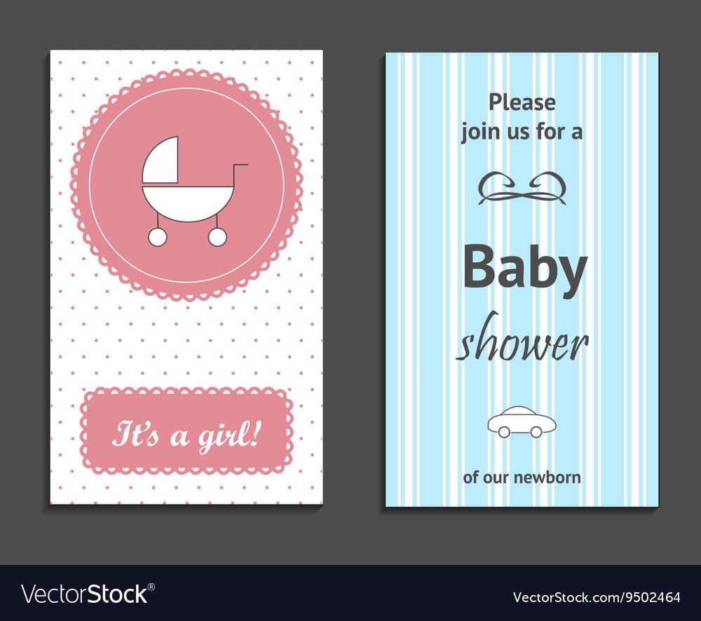 Baby Shower Invitation vector image