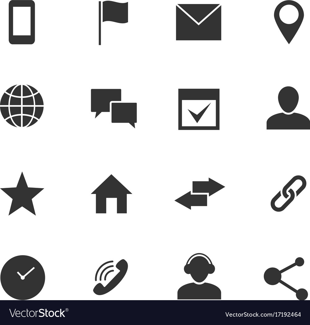 Contact and communication internet icons