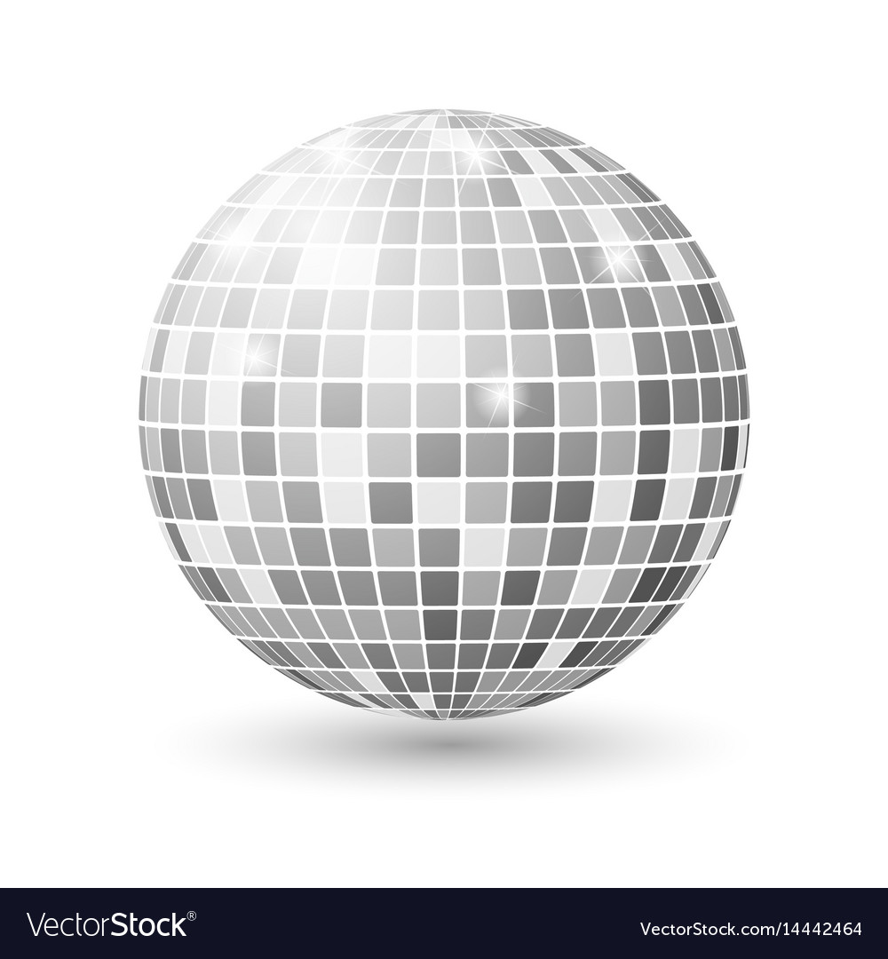 Disco ball isolated night club party