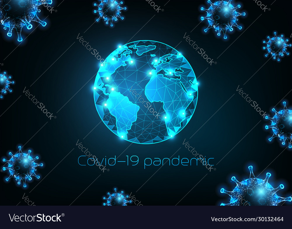 Futuristic coronavirus covid-19 pandemic concept