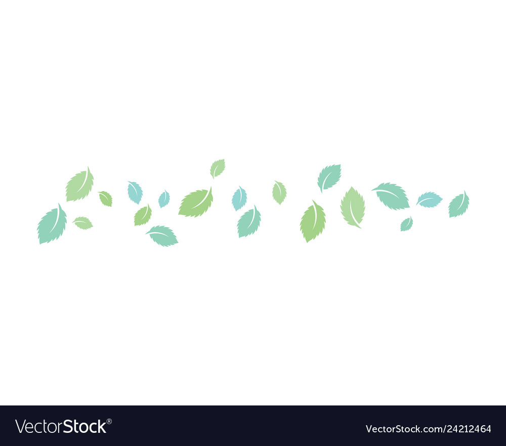 Mint leaves flat icon