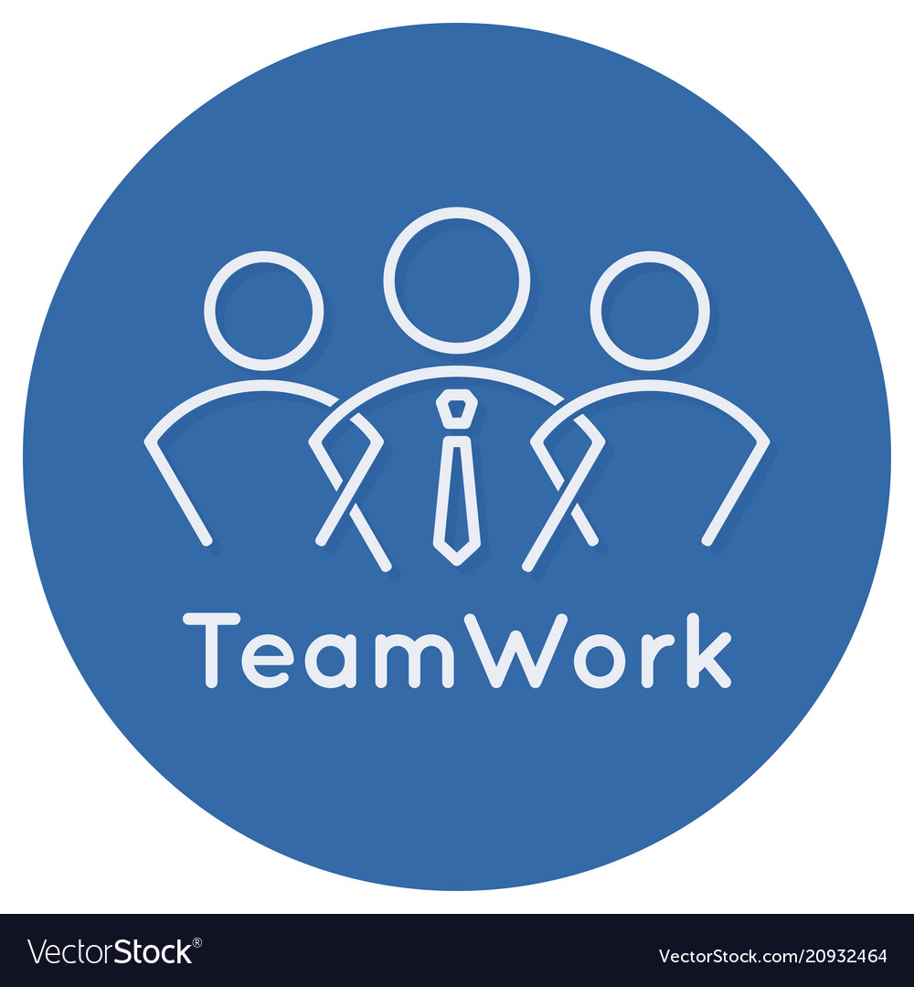 Teamwork business concept icon on white background