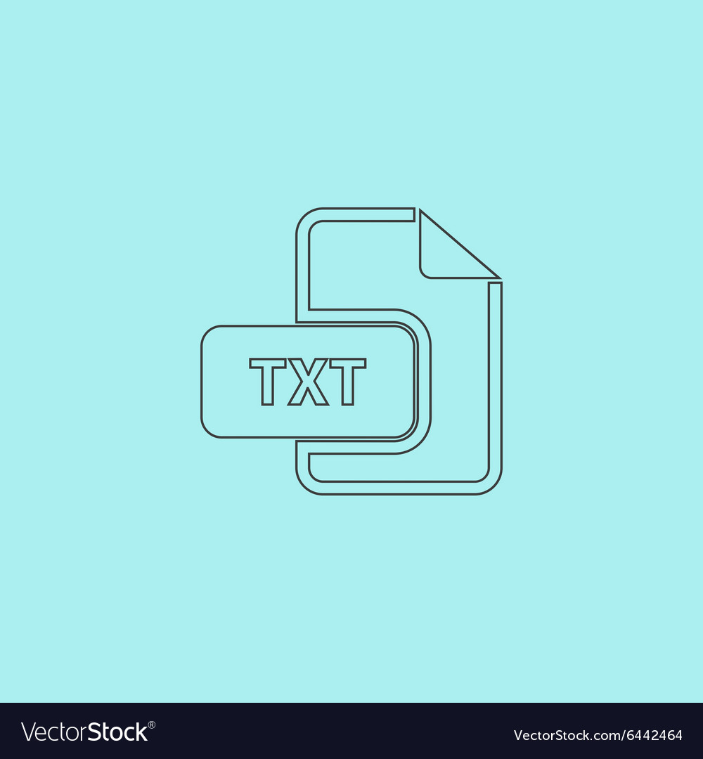 TXT text file extension icon