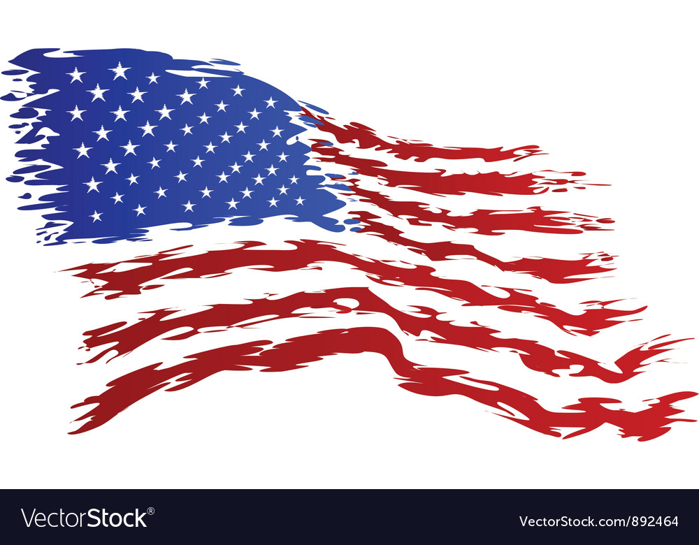 usa flag grunge art royalty free vector image vectorstock