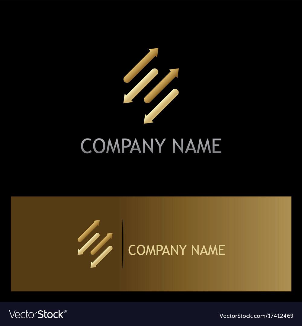 Arrows dynamic gold logo