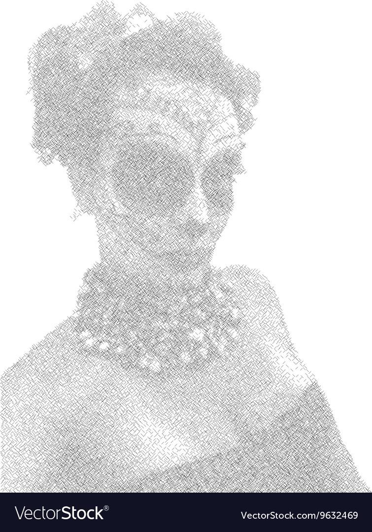 Beautiful and elegant muertos or Sugar Skull Lady