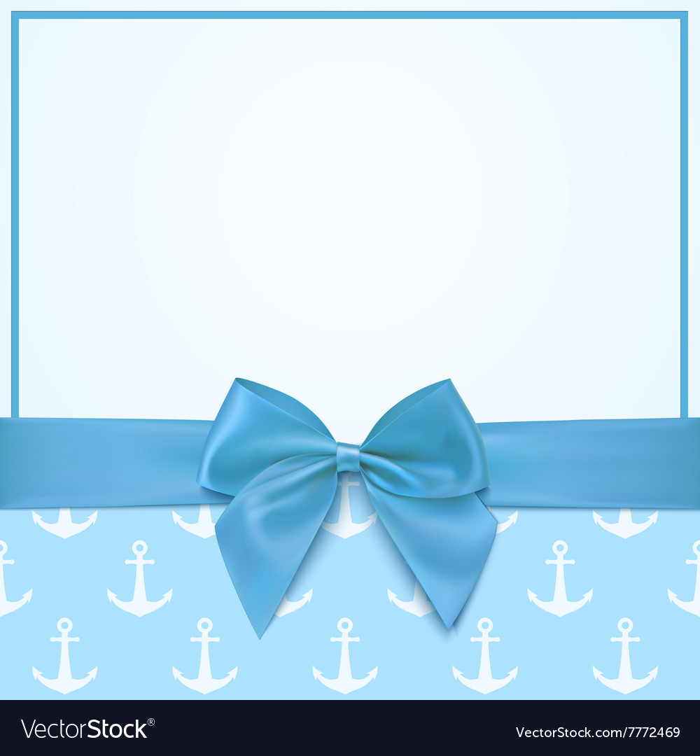 Blank greeting card template for a boy