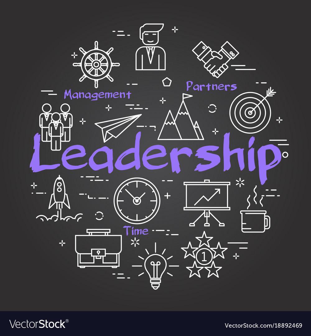 Chalk board concept - leadership sign vector image