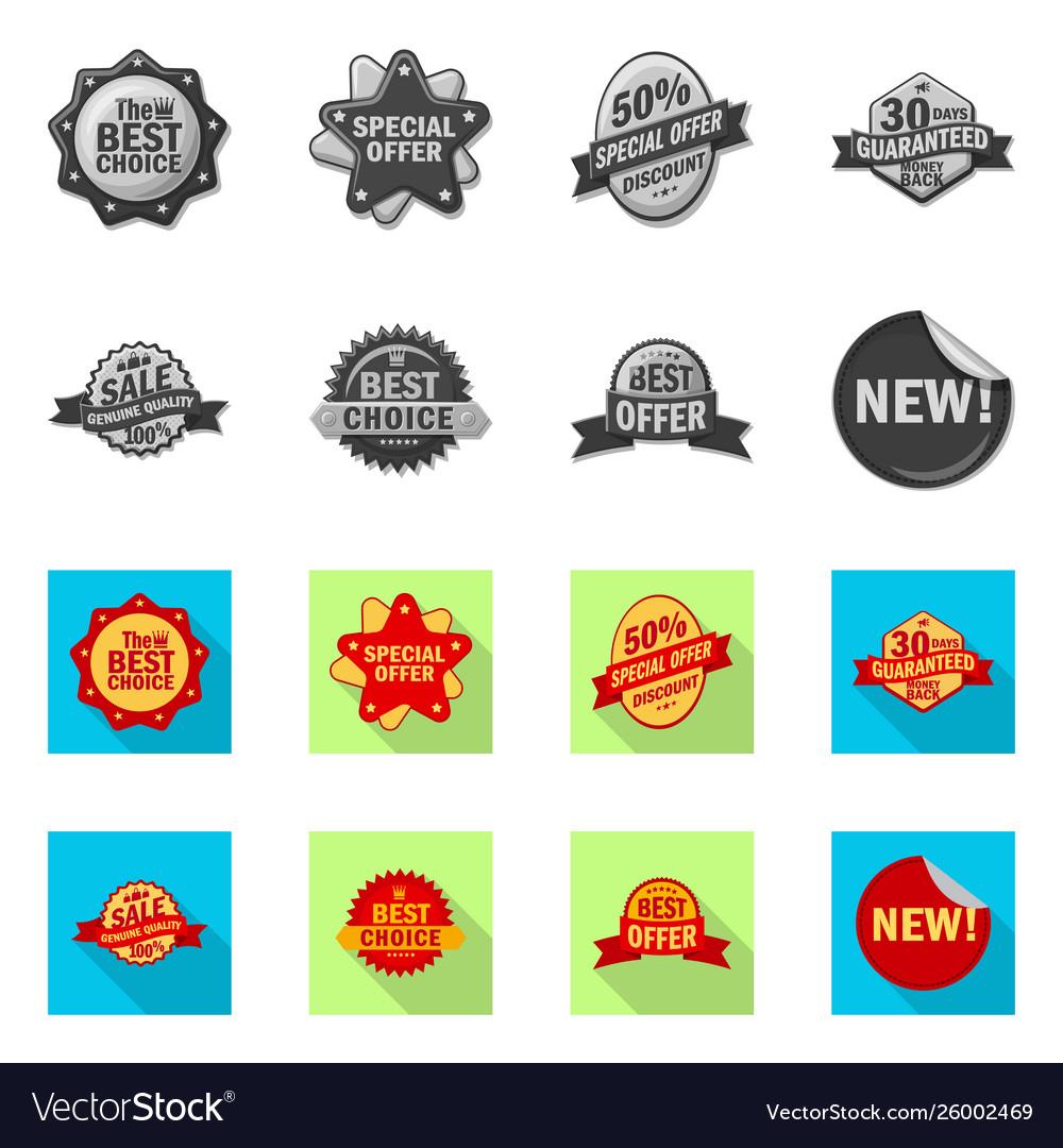 Emblem and badge sign set