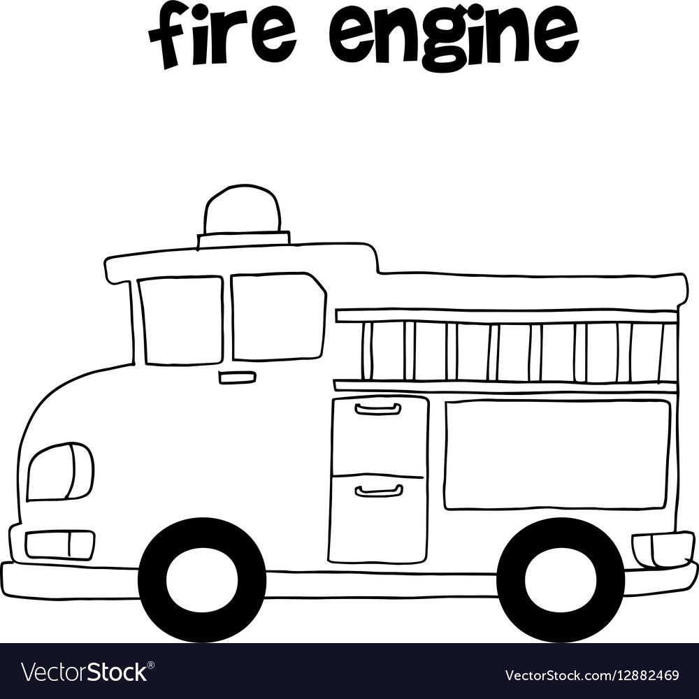 Fire engine art vector image