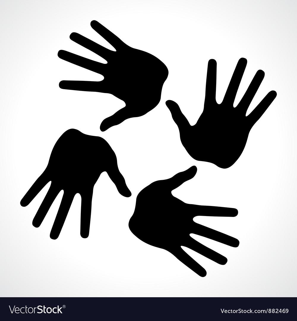 Hand prints icon