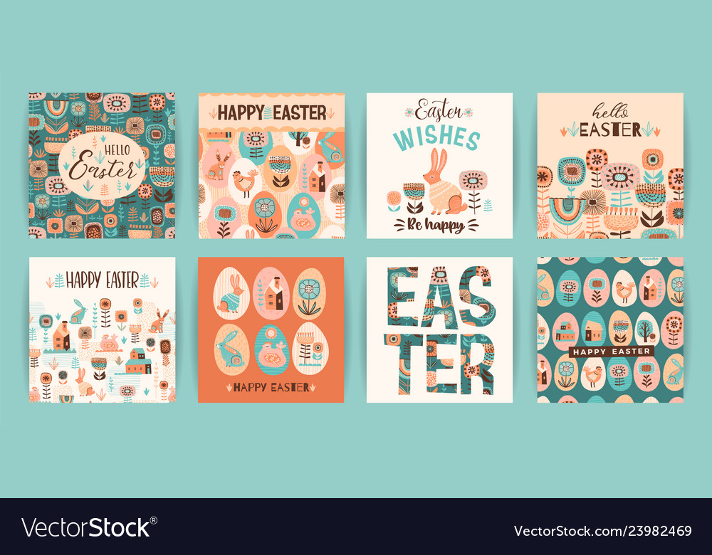 Happy easter templates for card poster
