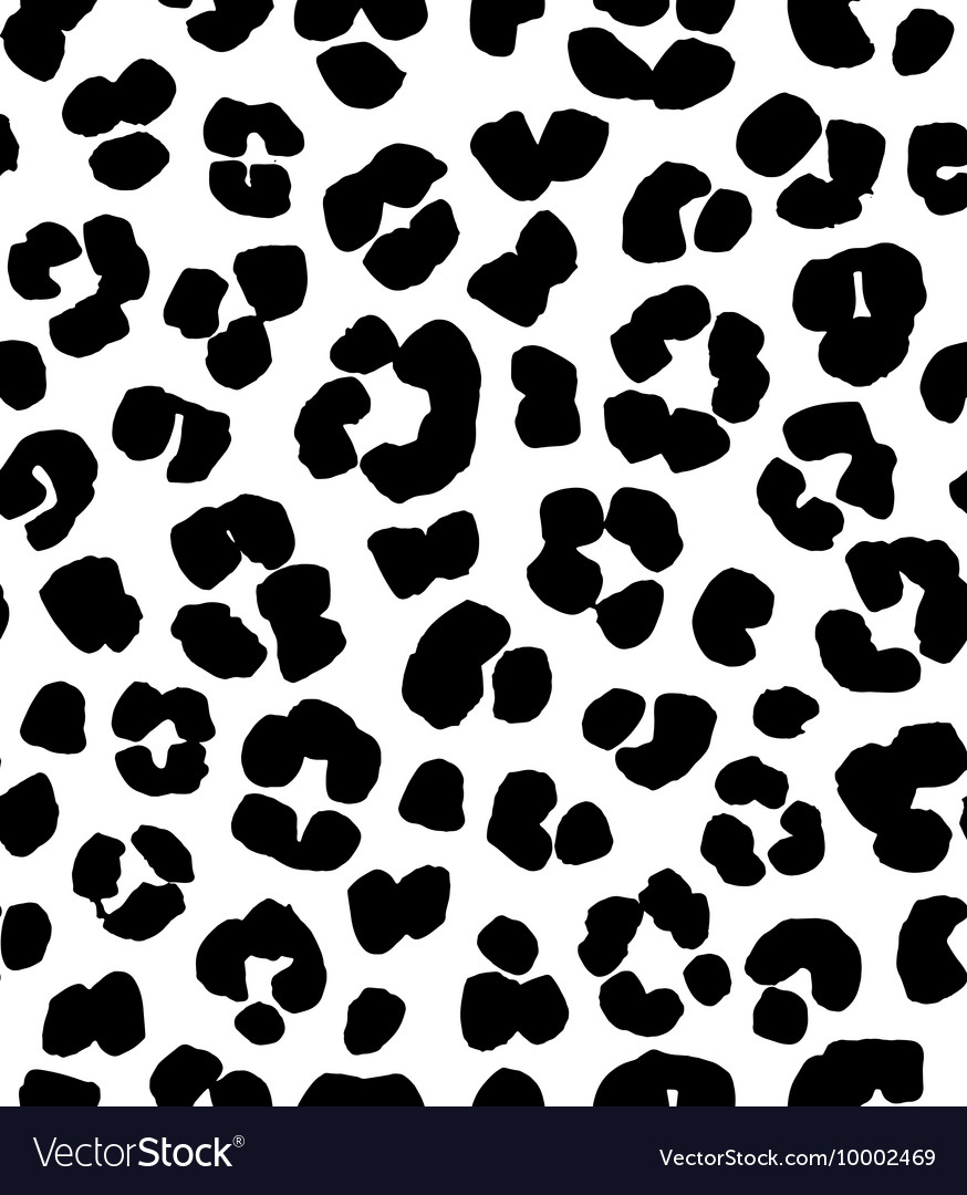 Leopard print seamless background pattern black vector image thecheapjerseys Gallery