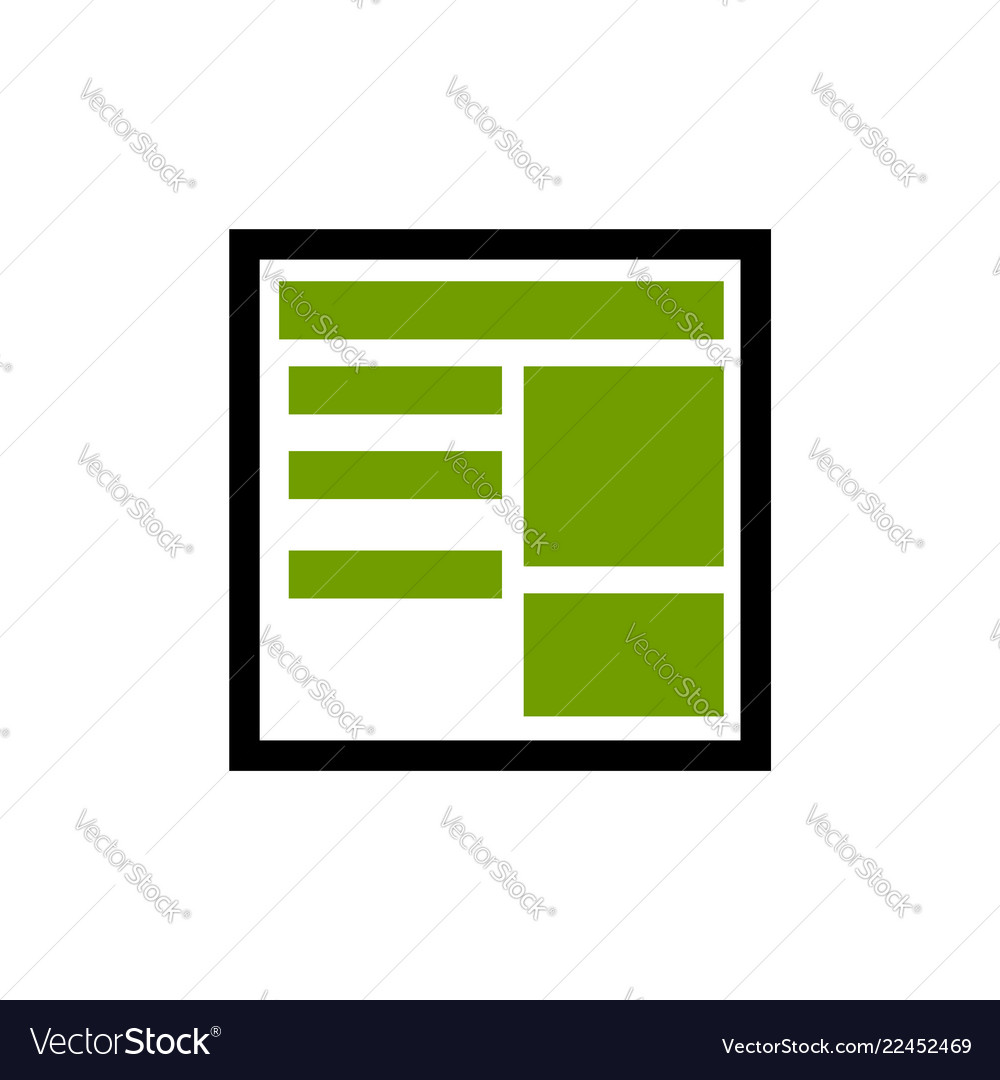 News Paper Line Icon Outline Style Linear Vector Image
