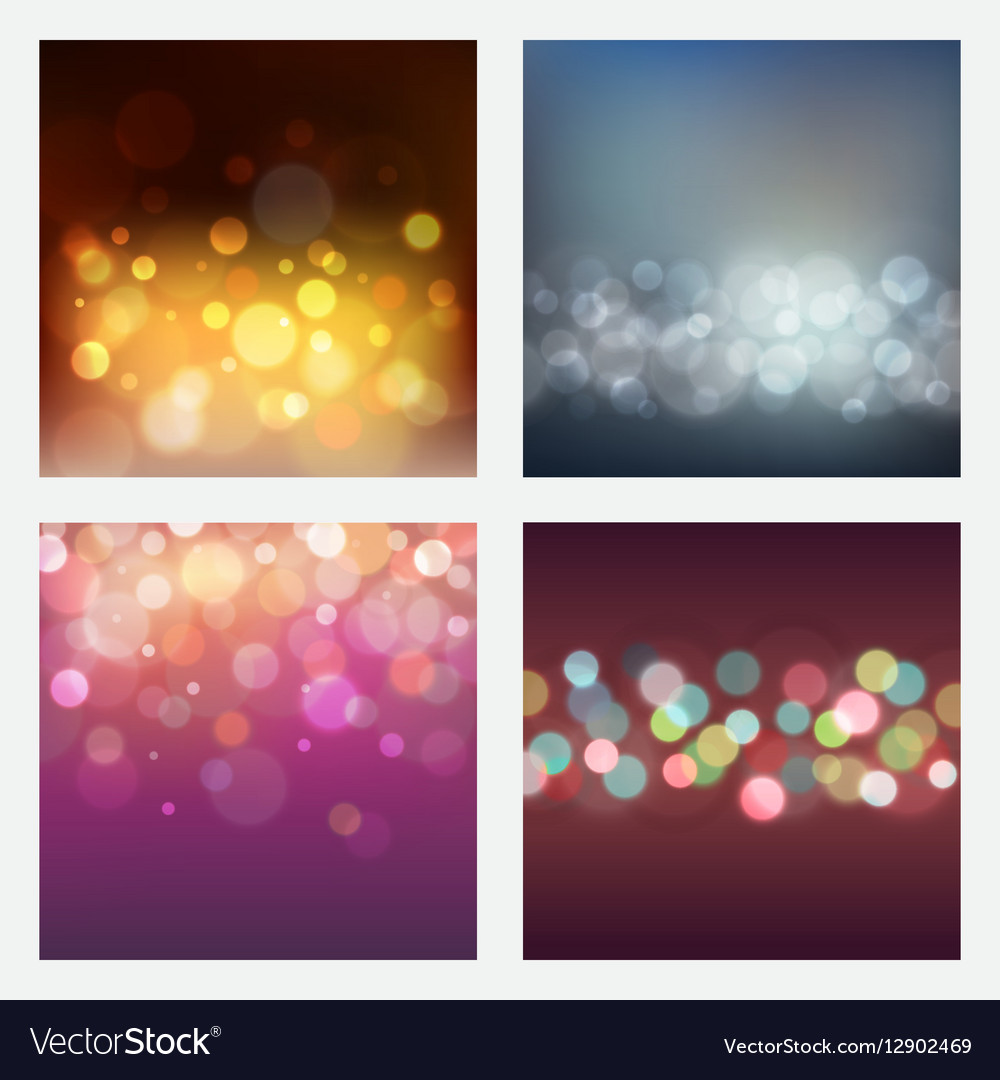 Set of abstract bokeh backgrounds
