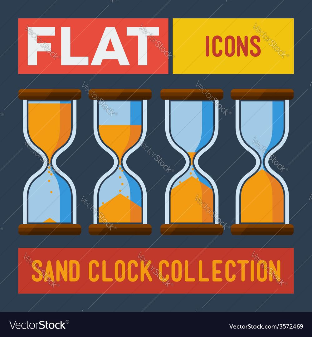 Set of flat sand clocks