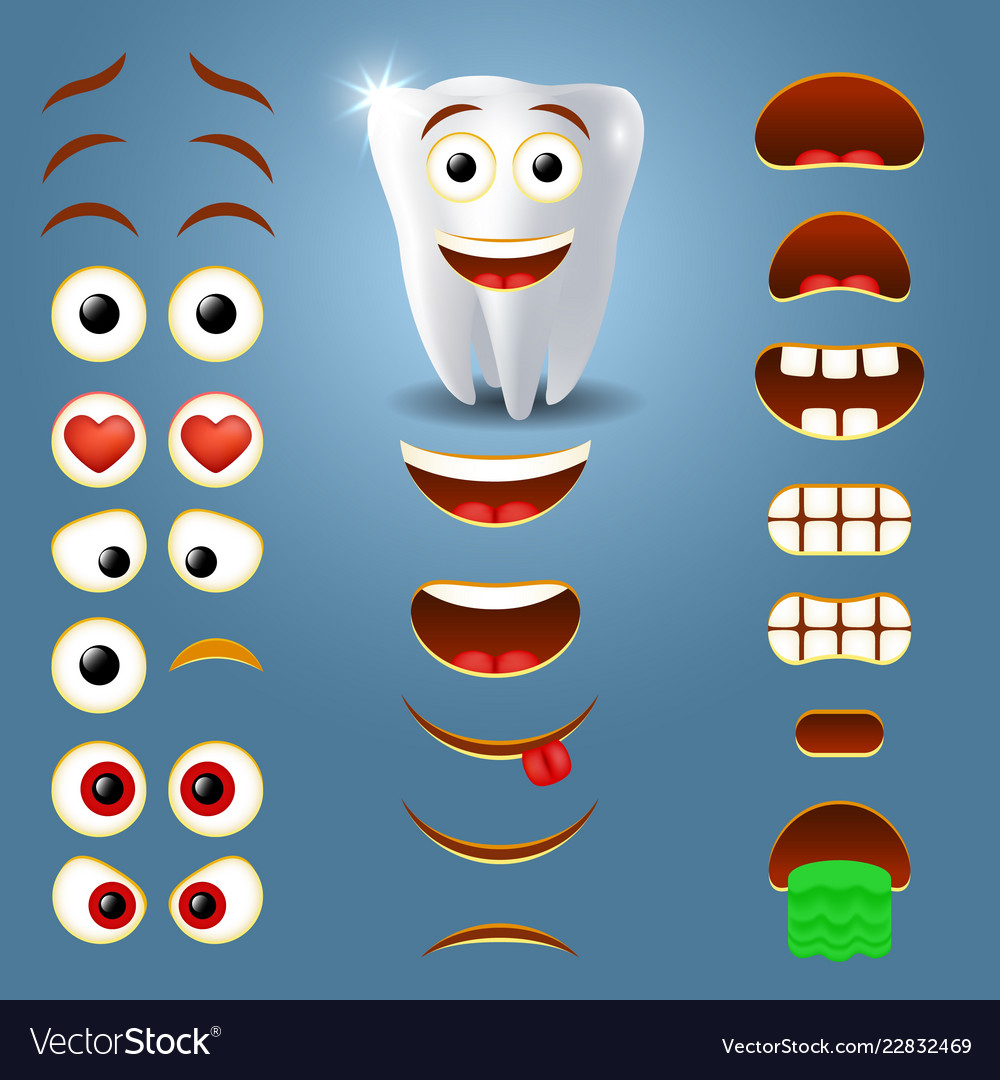 Tooth emoji maker smiley creator