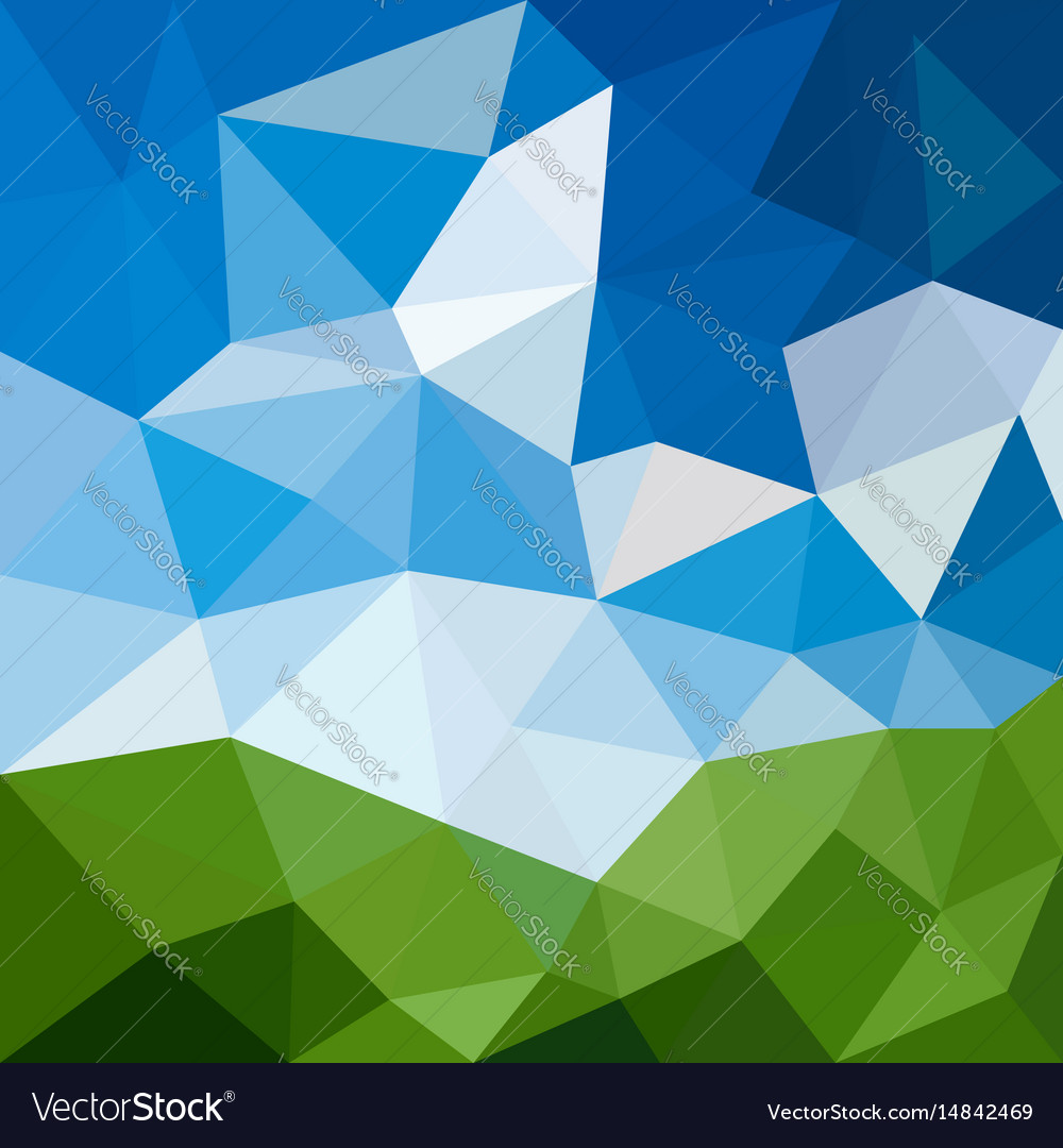 Triangular abstract background landscape vector image